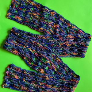 Knitted Cross Stitch Scarf CSS0080 01