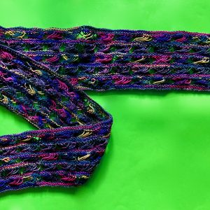 Knitted Cross Stitch Scarf CSS0090 01